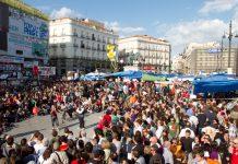 Protestas en la Puerta del Sol de Madrid en mayo de 2011. Foto: Carlos Delgado