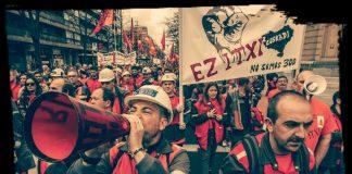 Manifestación contra el cierre de ArcelorMittal Zumárraga. Foto: FB ARCELOR ZUMARRAGA EZ ITXI (Argi Fernández)