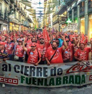 Manifestación Coca Cola En Lucha en Fuenlabrada. Foto: Facebook CocaColaEnLucha ni un paso atrás. Giorgio Spartani