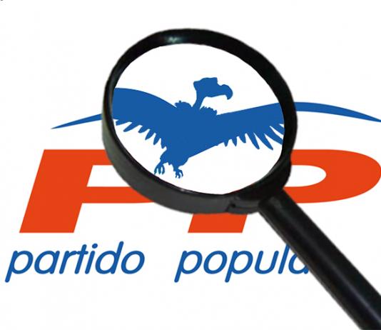 Montaje de El Jueves sobre el logo del PP