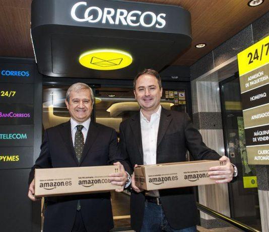El presidente de Correos (izq.) y el de Amazon España.