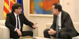 Reunión entre Carles Puigdemont y Mariano Rajoy. Foto: Generalitat de Catalunya.