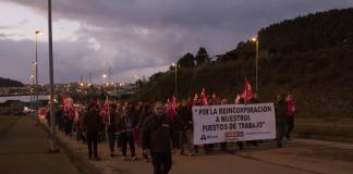 Marcha de apoyo a los trabajadores de Montrasa. 1 de diciembre de 2017, Avilés. Foto: Alisa Guerrero.