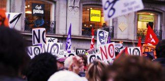 Movilización por las pensiones en Madrid el 17 de Marzo de 2017. Foto: Alisa Guerrero