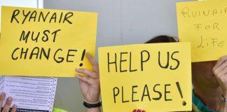 La huelga de Ryanair movilizó a los tripulantes de cabina de la empresa en cuatro países.