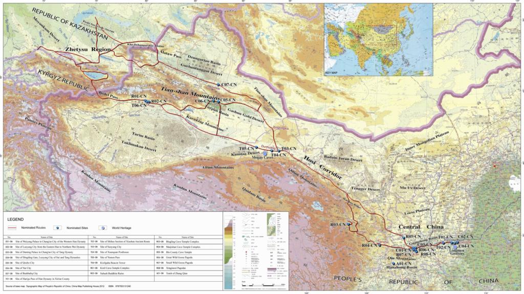 Rutas de la Seda: Sección inicial de las rutas de la seda, la Red de Rutas del Corredor Tian-shan. https://whc.unesco.org/document/132728