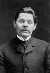 Máximo Gorki en 1906. Foto: Negativo en blanco y negro de Herman Mishkin, N.Y.