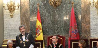 El presidente del Tribunal Supremo, Carlos Lesmes, durante el acto de apertura del año judicial (Foto: Casa Real)
