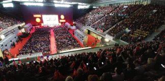 10.000 delegados y delegadas de UGT y CCOO abarrotaron la Caja Mágica en Madrid. Foto: CCOO.