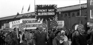 Manifestación en Estocolmo en 1968.